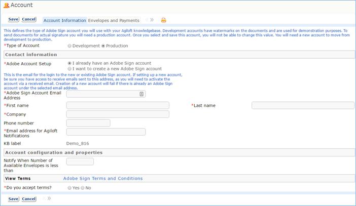 Adobe Sign Setup - Help - Agiloft Help