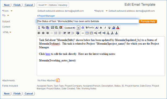 Sending email help agiloft help email wizard pronofoot35fo Images