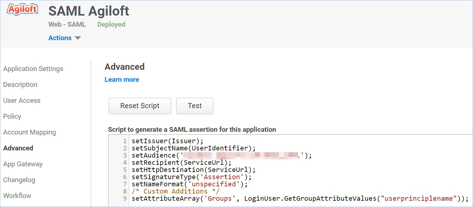 SAML 2 0 Centrify Identity Service Integration - Help