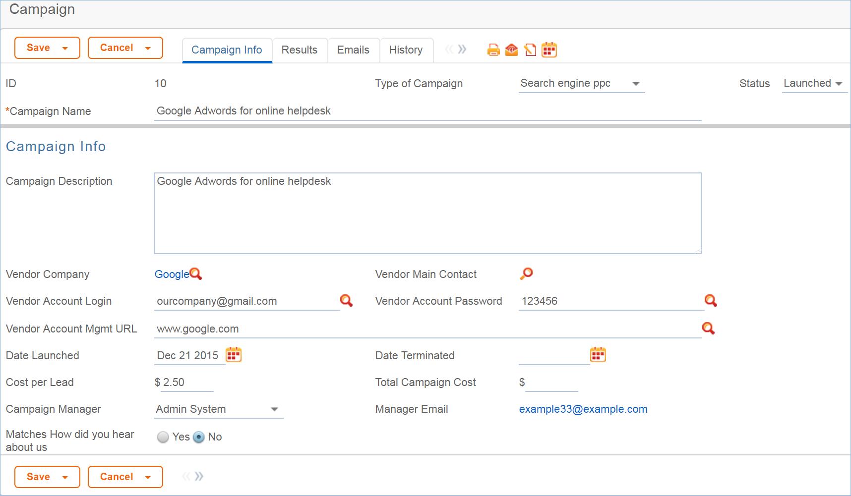 Campaigns Itil Documentation Agiloft Help