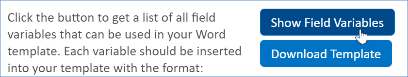 Show Field Variables button in print template wizard