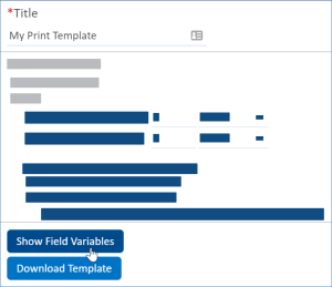 Show Field Variables and Download Template buttons in wizard