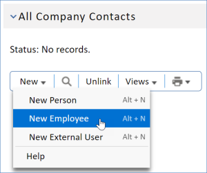 All Company Contacts related table